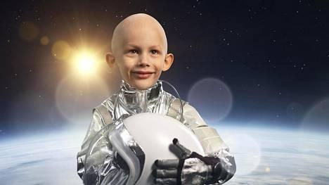 5-vuotias Frans haaveilee astronautin ammatista.
