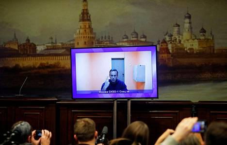 Aleksei Navalnyi osallistui videon välityksellä oikeuden istuntoon viime viikon torstaina.