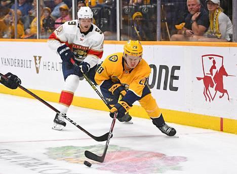 Eeli Tolvanen pääsi maanantaina jälleen NHL-jäille. Kuva on vuodelta 2019.