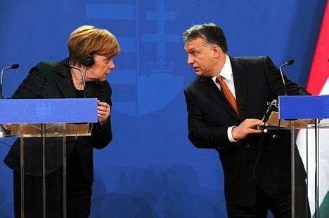 Saksan liittokansleri Angela Merkel ja Unkarin pääministeri Viktor Orban tapasivat Budapestissa maanantaina.