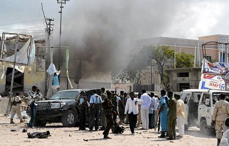 Autopommialue eristettiin Mogadishussa sunnuntaina.