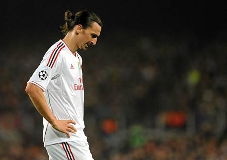 Zlatan Ibrahimovicin ja AC Milanin urakka jalkapallon Mestarien liigassa päättyi tiistaina Barcelonaa vastaan.