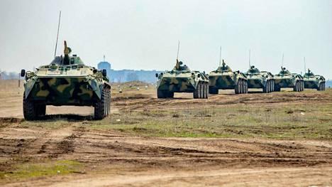 Transnistrian puolustusministeriö julkaisi verkkosivuillaan kuvan äskettäisistä sotaharjoituksista.