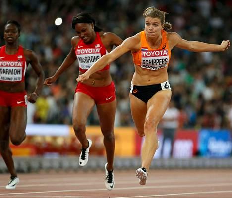 Hollannin Dafne Schippers teki 200 metrillä uuden kisaennätyksen.