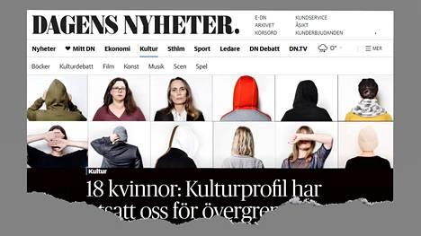 """Dagens Nyheterin jutussa 18 naista kertoi """"Kulttuuriprofiilin"""" toiminnasta."""