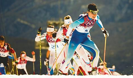 Kerttu Niskanen nousi 30 kilometrin kilpailussa neljänneksi.
