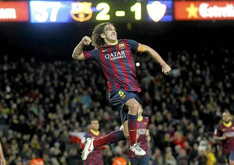 Carles Puyol on jättämässä Barcelonan kauden jälkeen.