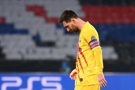 Lionel Messi joutui pettymään Mestarien liigan neljännesvälierässä.