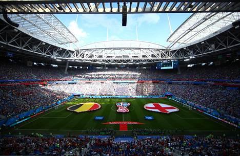 Pietarissa pelattiin heinäkuussa 2018 jalkapallon MM-kisojen pronssiottelu Belgia-Englanti.