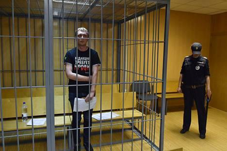 Poliisin mukaan Ivan Golunov olisi syyllistynyt törkeisiin huumerikoksiin. Hänet pidätettiin kuukasi sitten.