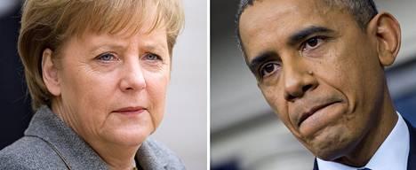 Angela Merkel on vaatinut Barack Obamalta selityksiä urkintaan.