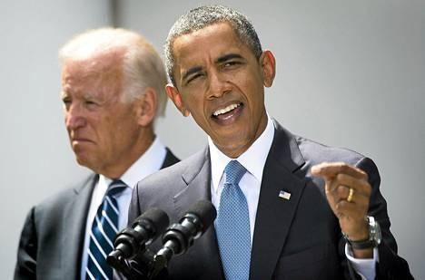 Yhdysvaltain presidentti Barack Obama puhui Syyrian tilanteesta Valkoisen talon edessä Washingtonissa lauantaina.