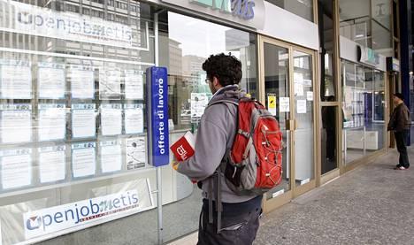 Taantuma on vaikeuttanut italialaisnuorten työnsaantia.