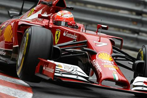 Kimi Räikkönen Monacon osakilpailussa torstaina.