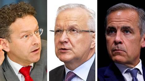 Muun muassa heitä on pidetty julkisuudessa vahvoina ehdokkaina IMF:n seuraavaksi pääjohtajaksi: Holllannin entinen valtiovarainministeri Jeroen Dijssebloem, Suomen pankin pääjohtaja Olli Rehn ja Englannin keskuspankin pääjohtaja Mark Carney.