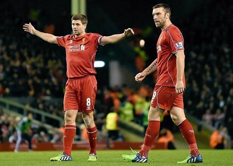 Steven Gerrardin ja Rickie Lambertin varassa on paljon Liverpoolin hyökkäystehoista.