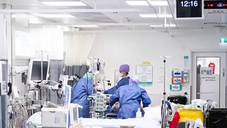 IS 20200424 Covid-19 ( koronavirus ) tehohoitoa HUS:ssa. Kuva: HUS / Pietari Hatanpää
