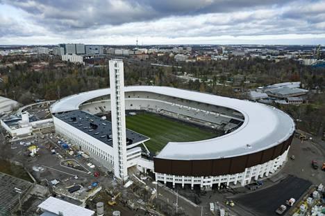 Helsingin Olympiastadionin on määrä valmistua ensi vuoden elokuussa.