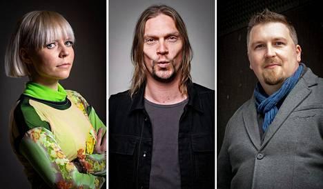 Paula Vesala, Mikko Von Hertzen ja Tuukka Haapaniemi ovat mukana #oikeusmusiikkiin-kampanjassa.