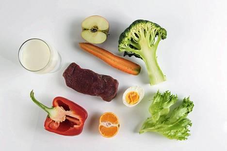 B12-vitamiinia saa muun muassa lihasta, kananmunasta ja maitovalmisteista.