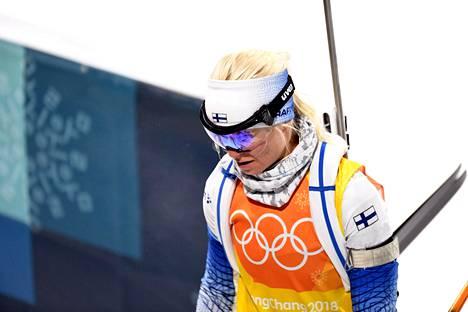 Mari Laukkasen olympiaurakka päättyi torstaina naisten ampumahiihtoviestiin.