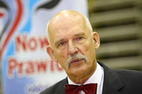 Puolalainen europarlamentaarikko Janusz Korwin-Mikke on aiemmin herättänyt huomiota rasistisilla lausunnoillaan.