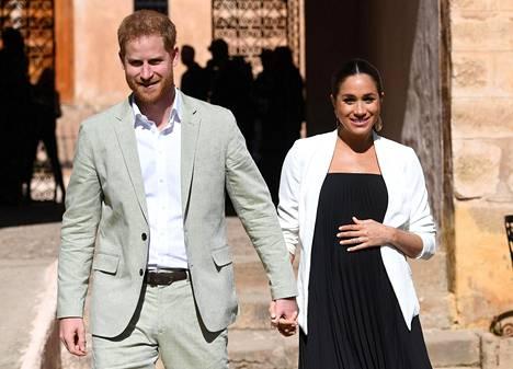 Prinssi Harry ja Sussexin herttuatar Meghan helmikuussa Marokon-vierailulla.