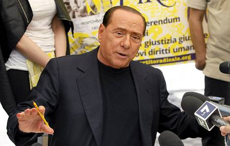 PDL-puolueen johtaja Silvio Belusconi Roomassa elokuun lopulla.