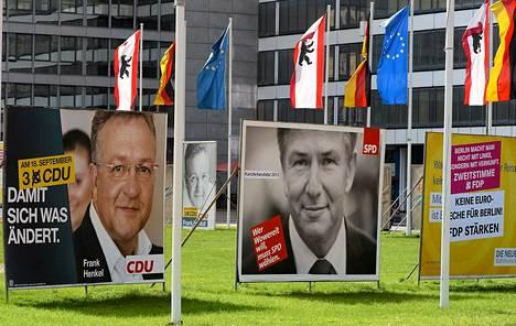 Berliiniläiset äänestävät sunnuntaina osavaltion edustajainhuoneen vaalissa.