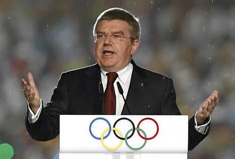 Kansainvälisen olympiakomitean puheenjohtaja Thomas Bach