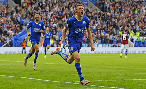 Leicesterin Jamie Vardy on tehnyt jo kymmenen maalia tämän kauden Valioliigassa.