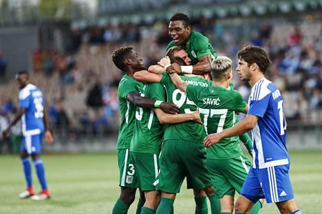 Slovenialainen Olimpija Ljubljana juhli 4–1-voittoa HJK:n kotikentällä Telia 5G -areenalla ja pudotti HJK:n Eurooppa-liigan karsinnoista.