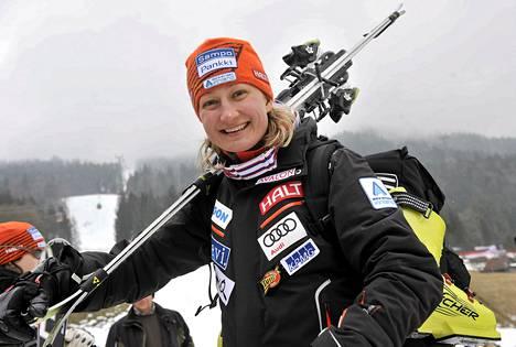 Tanja Poutiainen onnistui avaslaskussaan Aspenin pujottelussa.