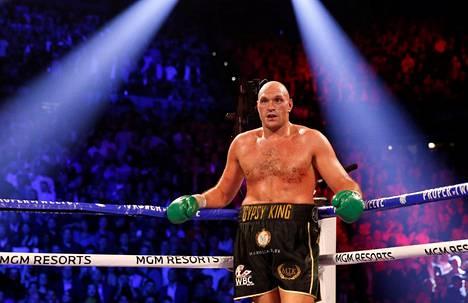 Tyson Fury ottelussa Deontay Wilderia vastaan helmikuussa 2020.