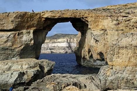 Kallioikkuna sijaitsi Gozolla. Tältä se näytti vielä alkuvuodesta.