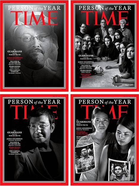 Joulukuussa 2018 Time julkaisi neljä erilaista kantta, jossa nostettiin esiin vuoden henkilöinä journalisteja, joita oli surmattu tai vangittu työnsä takia. Kaikki kannet kuvasi Magnum-kuvatoimiston valokuvaaja Moises Saman.