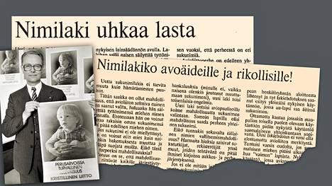 Vuonna 1985 säädetystä sukunimilaista kiisteltiin eduskunnassa ja lehtien palstoilla.