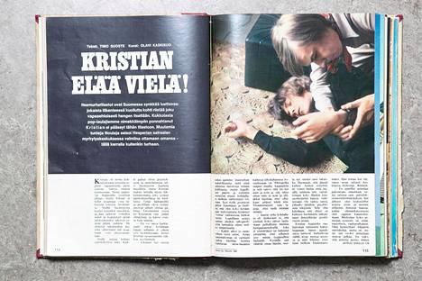 Juttu poplaulaja Kristianin keksitystä itsemurhayrityksestä ilmestyi Hymy-lehden numerossa 7/1969.
