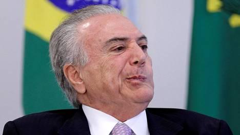 Brasilian presidentti Michel Temer.