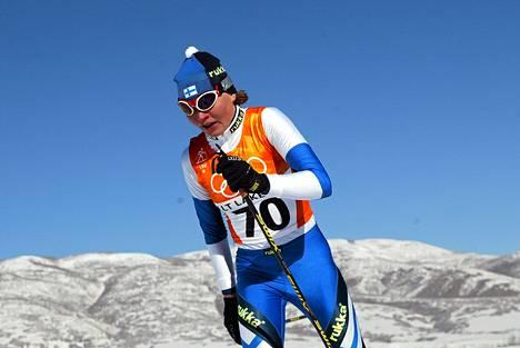 Kaisa Varis oli paras suomalaishiihtäjä Salt Lake Cityn olympialaduilla.