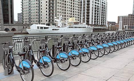 """Lontoossa on käytössä 8<span class=""""nbsp"""">&nbsp;</span>000 kaupunkipyörää. Helsinkiin on toiveissa saada 1<span class=""""nbsp"""">&nbsp;</span>500 pyörää."""
