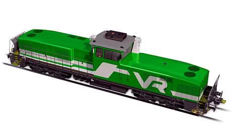 Havainnekuva Stadler dieselveturista. Uudet veturit ovat VR:n mukaan nykyistä dieselkalustoa huomattavasti ympäristöystävällisempiä ja toimintavarmempia.