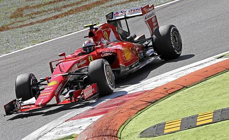 Kimi Räikkönen ajoi kakkoseksi lauantaina Monzan GP:n aika-ajossa.