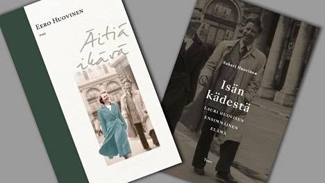 Jo kansikuvista näkee, että Eero Huovisen kirja äidistä ja Sakari Huovisen kirja isästä täydentävät toisiaan.