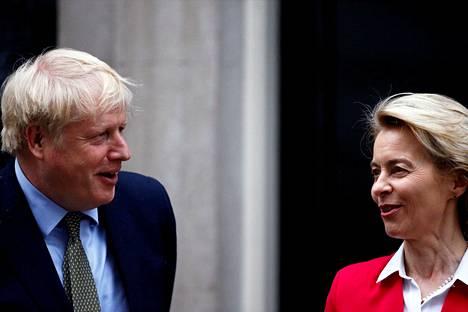 Britannian pääministerin Boris Johnson ja Euroopan komission puheenjohtaja Ursula von der Leyen tapasivat Lontoossa 8. tammikuuta.