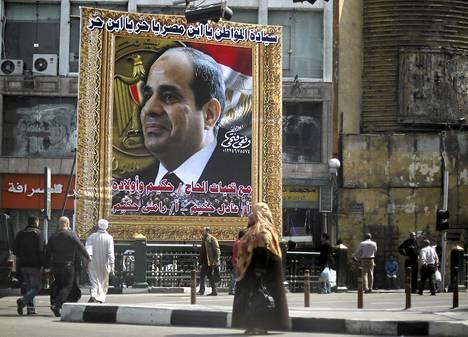 Abdel Fattah al-Sisin suosio lähentelee henkilönpalvontaa.