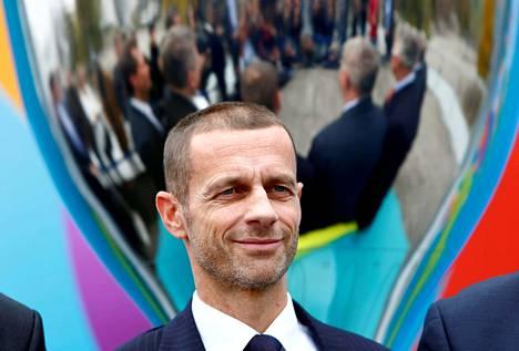 Uefan puheenjohtaja Aleksander Čeferin kuvattuna 27. lokakuuta 2016.