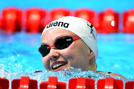Anni Alitalo oli 50 metrin selkäuinnin MM-alkuerissä jaetulla 17. sijalla.