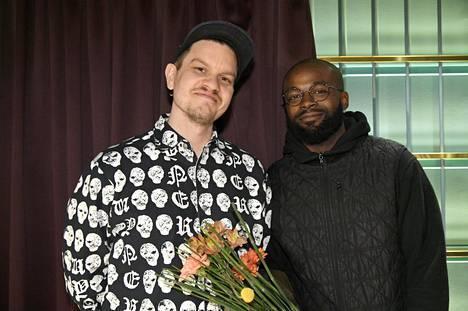 Tuottaja Totte Rautiainen ja artisti Jesse Markin
