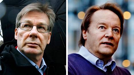 Aalto-yliopiston taloustieteen emeritusprofessori Pertti Haaparanta ja Tampereen yliopiston taloustieteen emeritusprofessori Matti Tuomala.